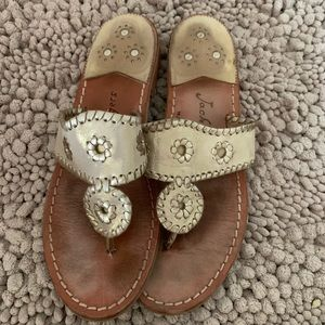 Gold jack rogers sandals